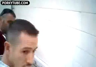guys in public toilet -