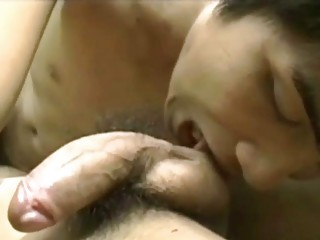 lewd asian homo dude licks his paramours large