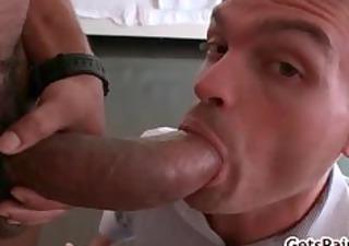 castro getting his bulky dark dick sucked part4
