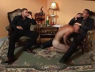 businessmen invite homo prostitute