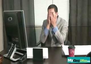 homo chaps fucked hard in the butt at the office