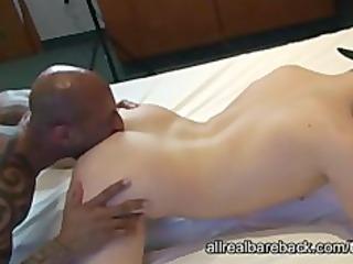 dark bodybuilder bareback blonde twink
