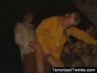 str boy terrorized hard in his arse