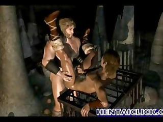 brawny anime homo acquires hawt fucked