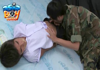schoolboy and military wicked play