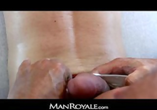manroyale - bodybuilders massage makes twink cum