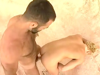 hot hairy daddy fucks golden-haired twink then a