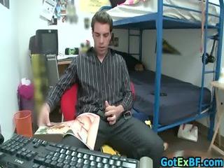 hot ex boyfriend caught jerking homosexuals