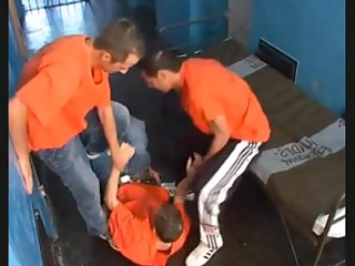 prison homo sex compilation with group sex
