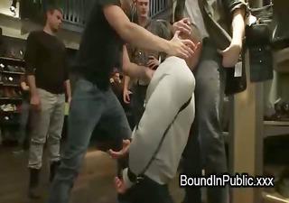 bodybuilder guy fuckfest drilled in slavery