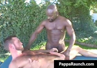 great black homo lad gets his dark knob