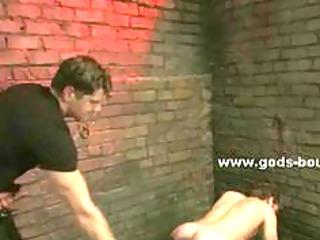 homo bondman put in the corner in servitude