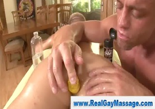 str guy ass toyed by masseur