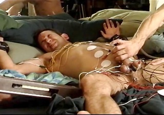full body electro, cock, balls, butthole, chest,