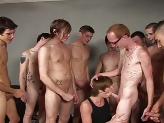 group of turned on twinks cum on juvenile