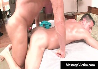 hot and concupiscent boy acquires the massage