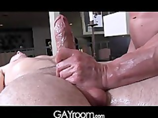 gayroom mature masseur rubs and probes large