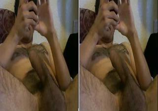 sexy latino man lovin his big uncut meat