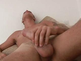 gay twink masturbating in the washroom