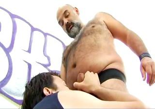 lad fucking a hairy chubby bear