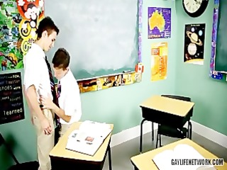 twink receives spanked with ruler and drilled in