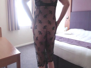 crossdresser lacy dress 10
