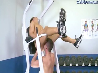 muscle homosexuals licking their assholes at gym