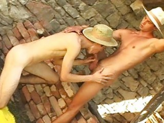 nasty gay cowboys lick and engulf every others