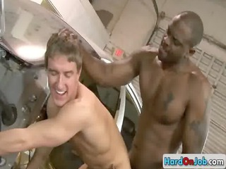 mechanic gets screwed by dark monster homo porn