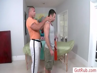 hairy chested chap getting examined homosexuals