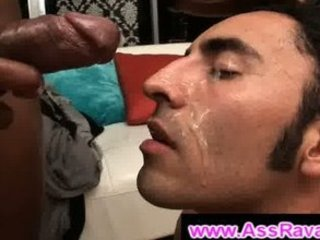 darksome bro ass fucks bushy homo chap and cums