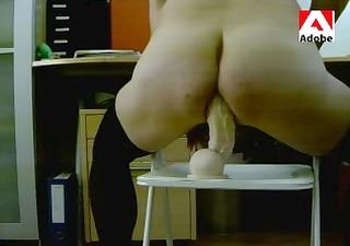 tvs crossdresser stockings and sex toy rambone