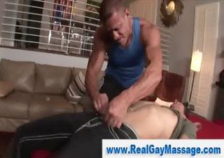 manipulative homosexual masseuse seduces straighty