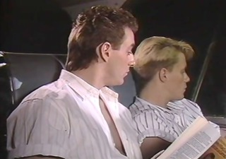 vintage homosexual porn guys fucking on a bus.