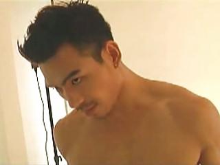 asian homo porn star likes the camera