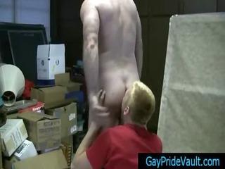 blond cute twink sucks bushy cock homosexuals