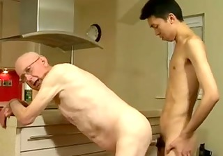 older man and young boy-friend