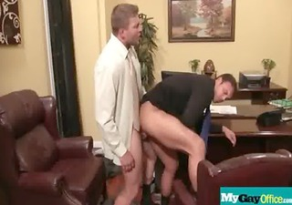 large muscled boys gay hardcore fucking in office