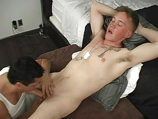 army homo dude got his meat rod blown out