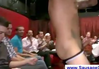 female stripper gets an awfull lot of blowjobs