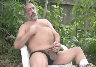 joe jerks his overweight tool outside